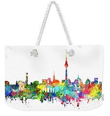 Berlin City Skyline Watercolor Weekender Tote Bag
