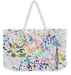 Berlin Map White Weekender Tote Bag by Bekim Art