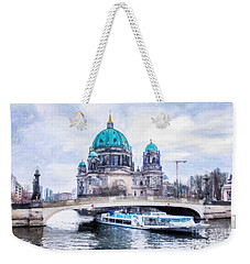 Weekender Tote Bag featuring the painting Berliner Dom by Chris Armytage