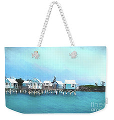 Weekender Tote Bag featuring the photograph Bermuda Coastal Cabins by Luther Fine Art