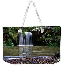 Weekender Tote Bag featuring the photograph Berowra Waterfall by Werner Padarin