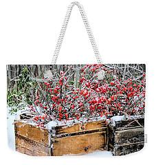 Berries And Ice  Weekender Tote Bag