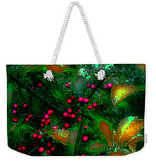 Weekender Tote Bag featuring the photograph Berries by Iowan Stone-Flowers