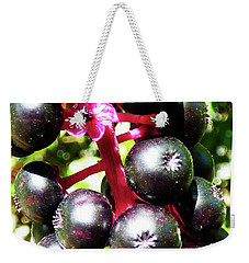 Wild Purple Pokeweed Berries  Weekender Tote Bag