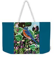 Berry Bluebird Weekender Tote Bag