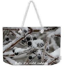 Berry Cold Weekender Tote Bag