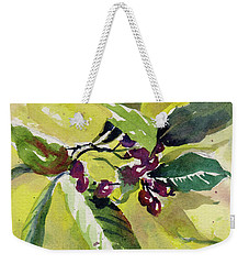 Weekender Tote Bag featuring the painting Berry Study by Kris Parins