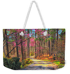 Weekender Tote Bag featuring the photograph Berry's Back Road by Geraldine DeBoer