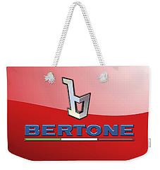 Bertone 3 D Badge On Red Weekender Tote Bag
