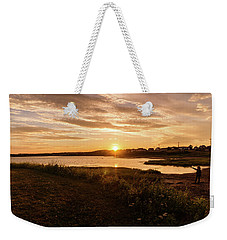 Weekender Tote Bag featuring the photograph Besides North Rustico Harbor by Chris Bordeleau