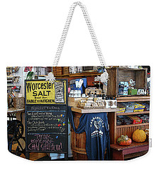 Weekender Tote Bag featuring the photograph Best Cafe by Betsy Zimmerli