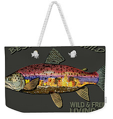 Fishing - Best Caught Wild-on Dark Weekender Tote Bag by Elaine Ossipov