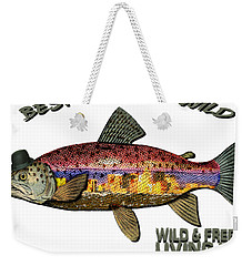 Fishing - Best Caught Wild On Light Weekender Tote Bag by Elaine Ossipov