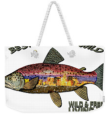 Fishing - Best Caught Wild - On Light No Hat Weekender Tote Bag