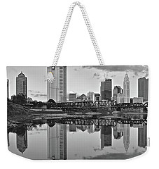 Weekender Tote Bag featuring the photograph Best Columbus Black And White by Frozen in Time Fine Art Photography