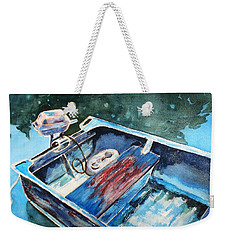 Weekender Tote Bag featuring the painting Best Fishing Buddy by Marilyn Jacobson