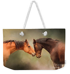 Best Friends - Two Horses Weekender Tote Bag