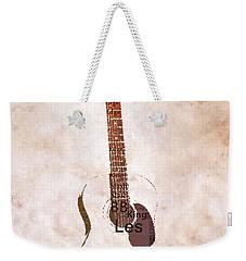 Best Guitarists Typography Warm Weekender Tote Bag by Dan Sproul