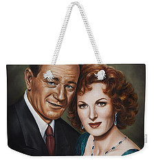 Weekender Tote Bag featuring the painting Best Guy I Ever Met by Kim Lockman