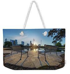 Best Seat In Austin, Texas 4 Weekender Tote Bag by Rob Greebon