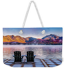 Best Seats In The Adirondacks Weekender Tote Bag