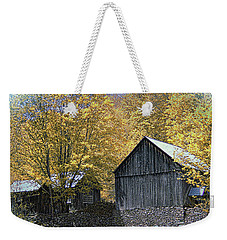 Weekender Tote Bag featuring the photograph Bethel Mountain Farm by John Rivera