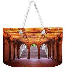 Weekender Tote Bag featuring the photograph Bethesada Terrace by Edgars Erglis