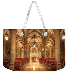 Bethlehem Chapel Washington National Cathedral Weekender Tote Bag by Shelley Neff