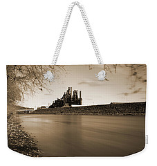 Bethlehem Steel Along The Lehigh Weekender Tote Bag by Jennifer Ancker