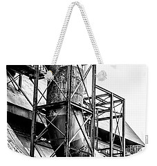 Bethlehem Steel - Black And White Industrial Weekender Tote Bag by Bill Cannon