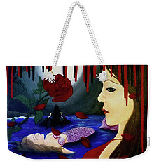 Weekender Tote Bag featuring the painting Betrayal by Teresa Wing