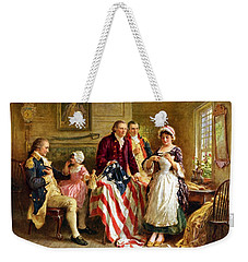 Betsy Ross And General George Washington Weekender Tote Bag