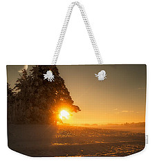 Weekender Tote Bag featuring the photograph Between Day And Night by Rose-Maries Pictures