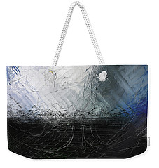 Weekender Tote Bag featuring the digital art Between Us, This Melancholy Sea by Wendy J St Christopher