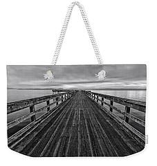 Bevan Fishing Pier - Black And White Weekender Tote Bag