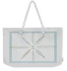Weekender Tote Bag featuring the photograph Beveled Glass by Ellen O'Reilly
