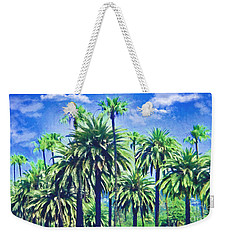 Beverly Hills Palms Weekender Tote Bag