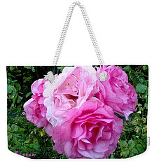 Weekender Tote Bag featuring the photograph Bevy Of Roses by Sadie Reneau