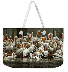 Bevy Of White Pelicans Weekender Tote Bag