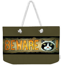 Beware Weekender Tote Bag by Jim Harris