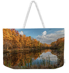 Beyer's Pond In Autumn Weekender Tote Bag