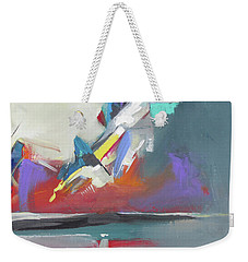Weekender Tote Bag featuring the painting Beyond Reflection by John Jr Gholson