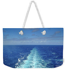 Weekender Tote Bag featuring the photograph Beyond The Blue Horizon by Judy Hall-Folde