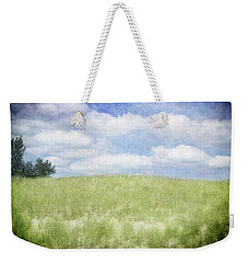 Weekender Tote Bag featuring the photograph Beyond The Grassy Dune by Kathi Mirto