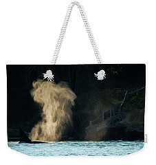 Weekender Tote Bag featuring the photograph Beyond The Mist - Wildlife Art by Jordan Blackstone