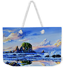 Weekender Tote Bag featuring the painting Beyond The Shore by Hanne Lore Koehler