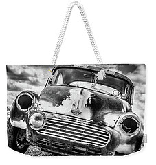 Beyond The Thunderdome In Black And White Weekender Tote Bag