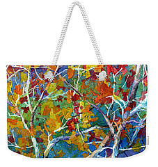 Beyond The Woods - Orange Weekender Tote Bag