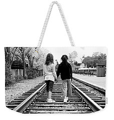 Weekender Tote Bag featuring the photograph Bff's by Greg Fortier