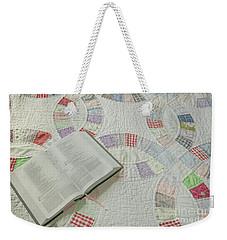 Bible On Quilt Weekender Tote Bag
